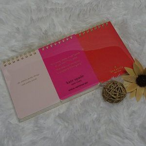 Kate Spade Set of 3 Mini Spiral Notebook Note Pads